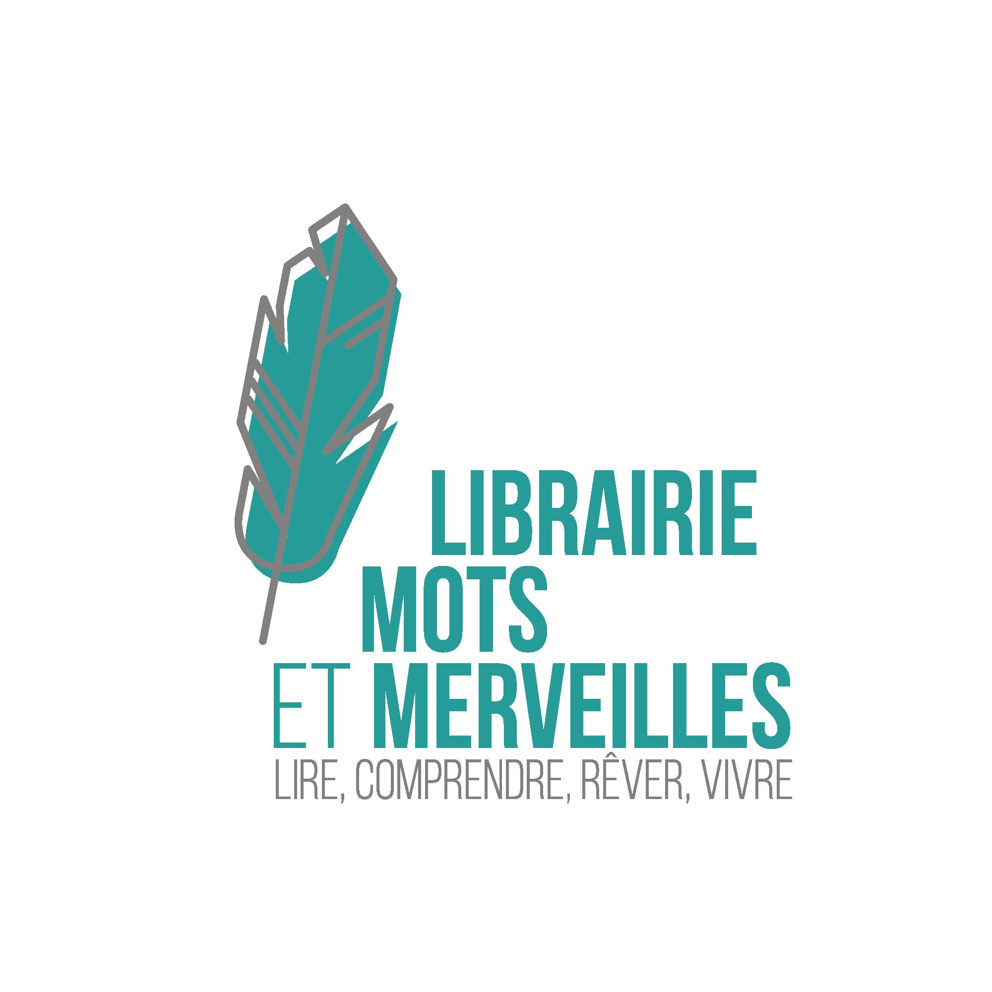 Logo librairie mots et merveilles